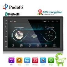 Podofo 2din автомобиля радио андроид мультимедийный проигрыватель Авто 2 Din 7 »сенсорный экран gps Bluetooth FM Wi Fi аудио плеер стерео