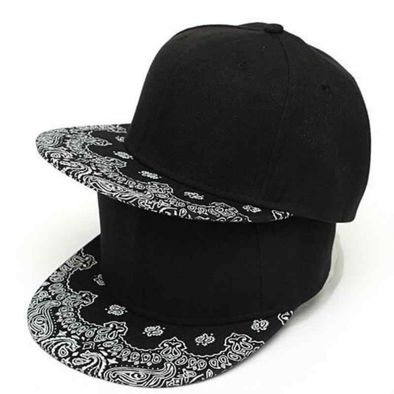 b06cf603520 New Unisex Women Men Paisley Adult Snapback Hiphop Print Hat Adjustable  Baseball Cap Casual Caps