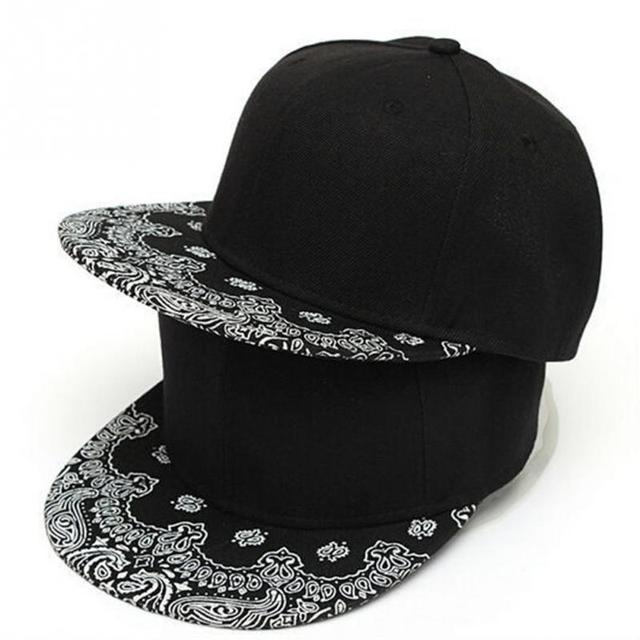 New Unisex Women Men Paisley Adult Snapback Hiphop Print Hat Adjustable Baseball  Cap Casual Caps 2a34b304595