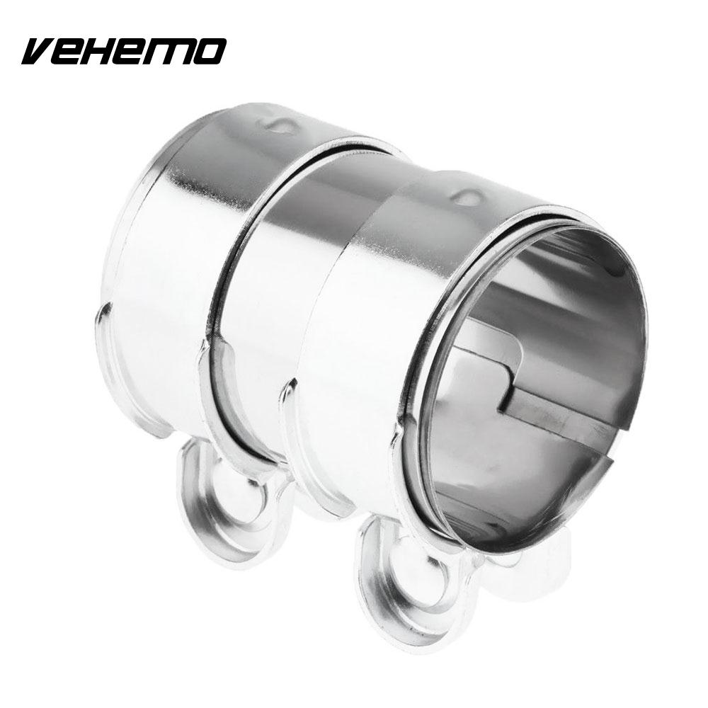 Punctual Vehemo 2/2.5inch Stainless Steel Tail Muffler Hoop Exhaust Pipe Hoop Silencers Replacement Accessories Durable Auto Replacement Parts Exhaust Headers