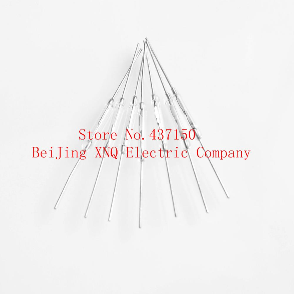 100pcs/LOT Reed Switch 2X14MM GLASS White Color N/O Low