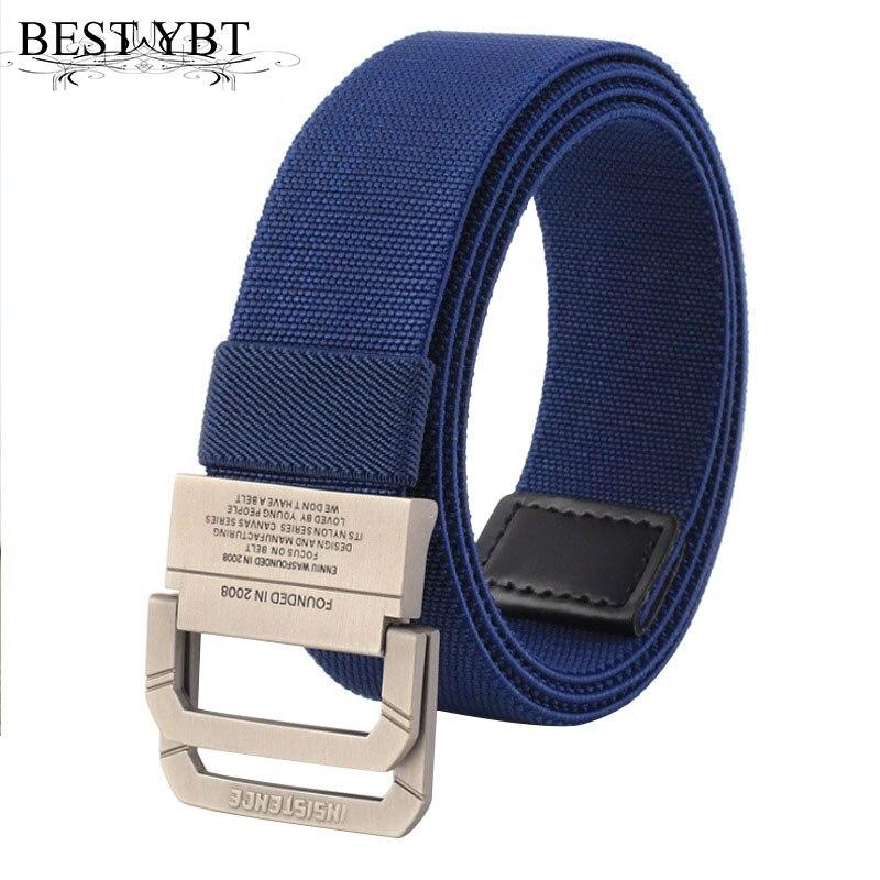 Best Ybt Unisex Belt Trend New Solid Color Weaving Canvas Automatic Buckle Men Belt Outdoor Sport Casual Men And Women Belt Apparel Accessories