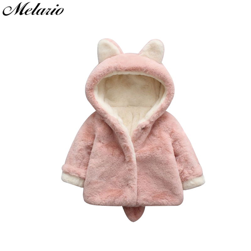 Kids Baby Girls Coat Cloak Jacket Thick warm clothes for Child Fur Winter 6M-3Y