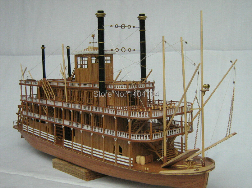 NIDALE Model Free shipping Scale 1 100 Steam ship model accessories The US Sternwheel steamer ship
