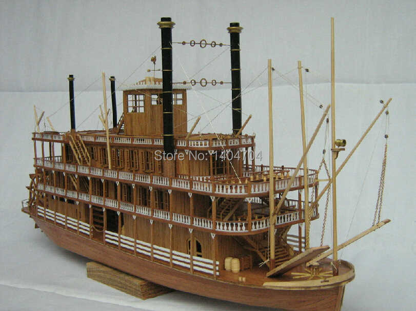 NIDALE Model Free shipping  Scale 1/100 Steam-ship model accessories:The US Sternwheel steamer ship Mississippi 1783 SC MODEL