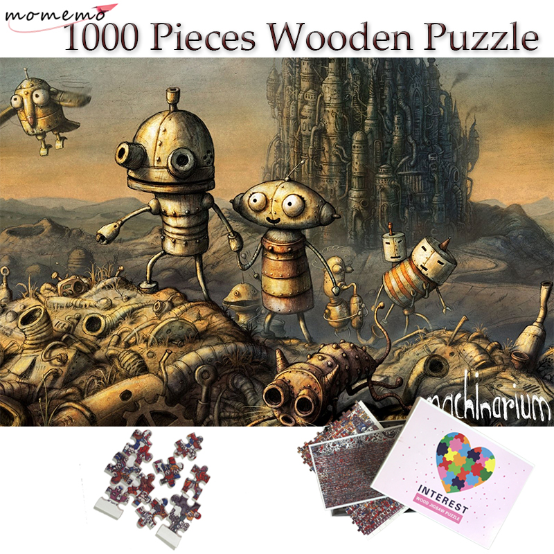 MOMEMO Robot World Igsaw Puzzle Fantasy Scene Pattern Wooden Puzzle 1000 Pieces Toys for Children Adults Teenagers Puzzle Games in Puzzles from Toys Hobbies