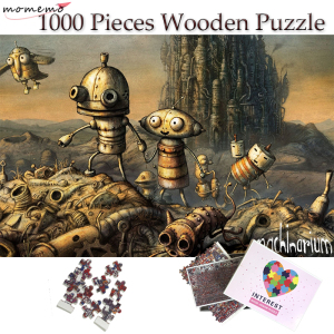 MOMEMO Robot World Igsaw Puzzle Fantasy Scene Pattern Wooden Puzzle 1000 Pieces Toys for Children Adults Teenagers Puzzle Games