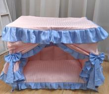 Variety of color foldable house delicate princess lace dog bed fresh and washable luxury high quality pastoral House