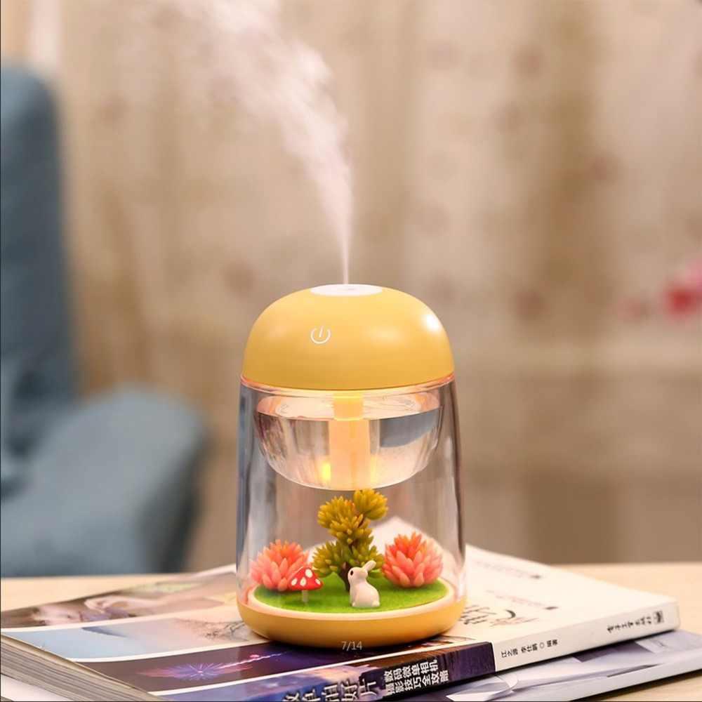Новый USB микро пейзаж увлажнитель мини портативный размер светодиодный свет для домашнего офиса автомобиля тумана эфирные масла диффузор