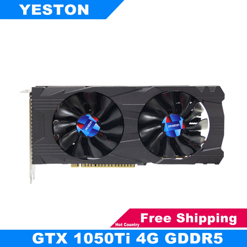 Yeston GTX 1050Ti NVIDIA Graphics Card GTX1050Ti GPU 4GB GDDR5 128bit PCI-E X16 3.0 Gaming Video Card for PUGB LOL for Desktop woodi журнальный столик бумеранг