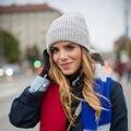 Осень зима без брим вязаная шапка ladys спорта на открытом воздухе теплый вязаная шапка высокое качество мода теплую шапку нет краев крючком cap