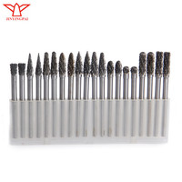 20 PCS 3*4mm Rotary Burrs Tungsten steel Solid Carbide Burrs Nail Drill dremel Wood Cutter Dremel Abrasive Tools