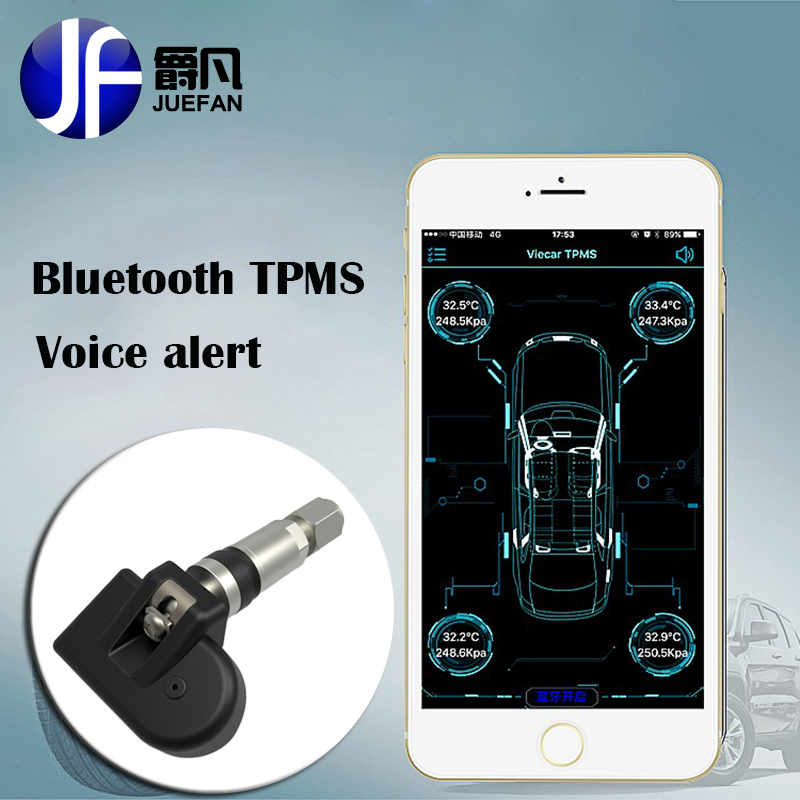 Profession monitor Smart Car font b TPMS b font Bluetooth wireless Tyre Pressure Monitoring System car