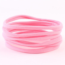 10Pcs New Solid Nylon Elastic Seamless Hair Band High Quality Fashion Simple Headband Headwear Accessories