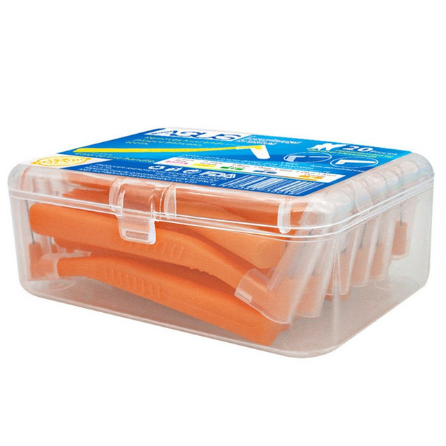 En forma de L Push-Pull cepillo Interdental 20 unids/caja dientes Cuidado Oral Blanqueamiento Dental recoger dientes de ortodoncia palillo de dientes cepillo de dientes