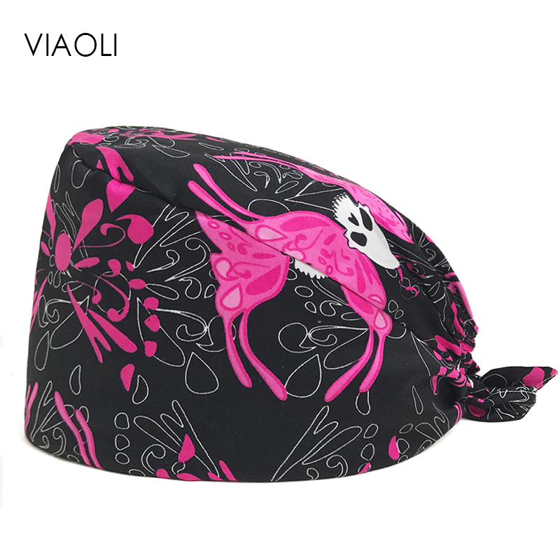 Hospital Surgical Cap Male And Female Doctors Operating Room Hats Dentistry Beauty Work Hats Pet Doctor Printing Gourd Hats New