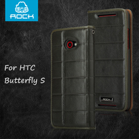 Original ROCK Genuine Leather Real Cow Leather Case For HTC Butterfly S 901E 9060 9088 909d