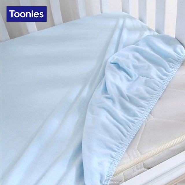 Baby Bamboo Fiber Cotton Children Multi Color Optional Crib Bedding Sheet Baby Bedding Fitted Sheet Bedding Linens 5 colors