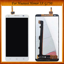 100% Tested OK For Huawei Honor 3X G750 LCD Display Screen with Touch Screen Digitizer Assembly 5pcs/lot IN Stock(China)