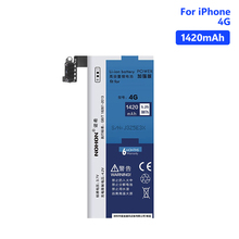 NOHON Replacement Phone Bateria Real capacity 3.7V 1420mAh Lithium Li ion Battery For iPhone 4 4G iPhone4 Batteries Free Tools