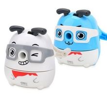 Cute Kawaii Animal Dog Pencil Sharpener Korean Kids School Supplies Stationery Hand Crank Mechanical Pencil Sharpeners