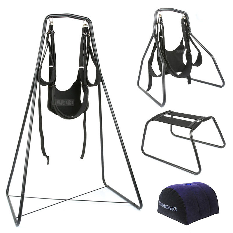 4In1 TOUGHAGE Sex Furniture Luxury Love Swings Chair Inflatable Pillow Wedge Position Adult Couples Games Sex Toys For Couples