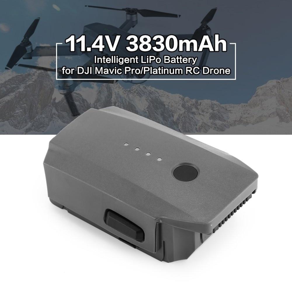11.4V 3830mAh 3S Intelligent Spare Flight LiPo Battery Replacement Parts for DJI Mavic Pro Platinum FPV Quadcopter RC Drone high quality realacc orange85 fpv racer spare part 3s 11 1v 450mah lipo battery for rc model
