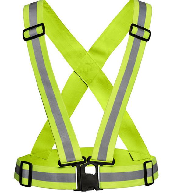 Chaleco reflectante Roupas De Trabalho oferece alta visibilidade colete reflector Para Correr, ciclismo Segurança Tira Toque Banda Colete