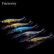 Facecozy рыболовные приманки светящаяся искусственная приманка гольян 1 шт. 6,5/8/9 см многоцветная прозрачная приманка для плавания подходит для троллинга