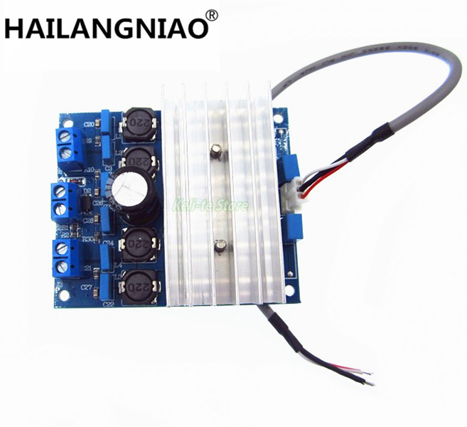 TDA7492 2 x 50W D Class High-Power Digital Amplifier Board AMP Board+ Radiator 2 channle amp iraud200 class d power amplifier board irfb4227 700w 700w