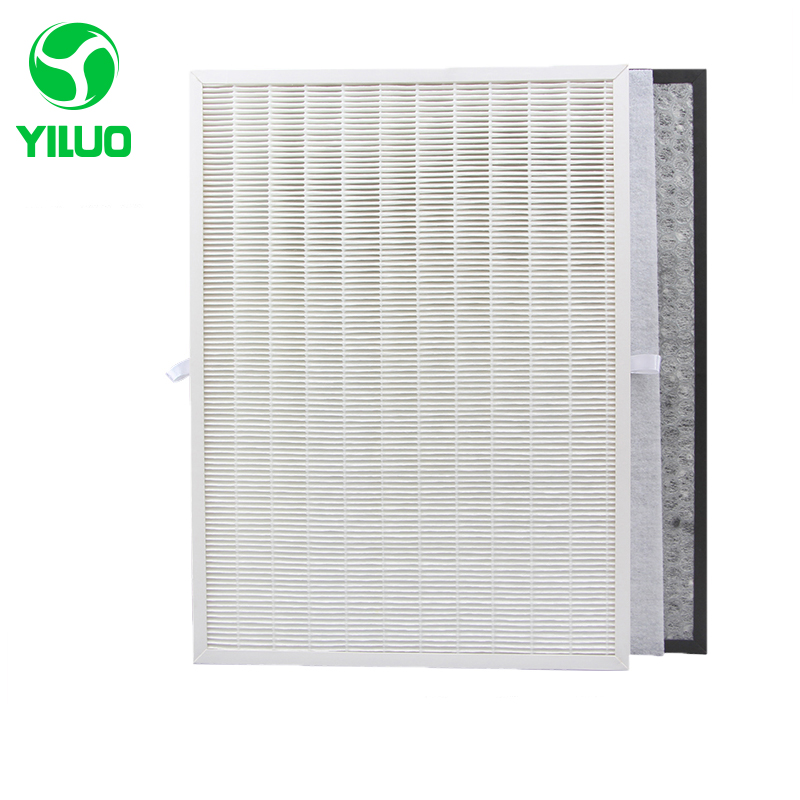 купить Hot sale HJZ2202 white dust hepa air filters +activated carbon filter, high efficient composite air purifier parts for KJF2105T онлайн