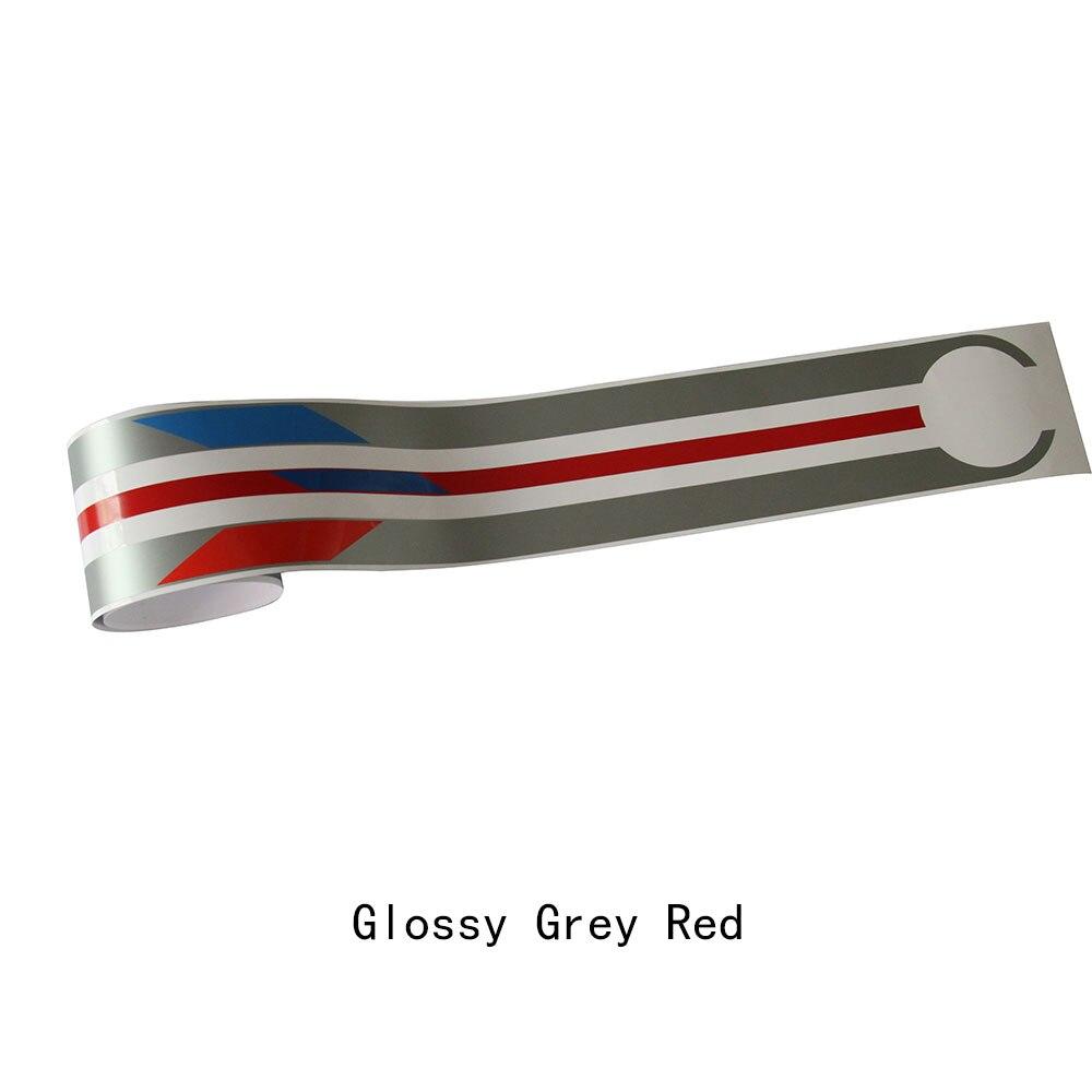 Для BMW F20 F22 F30 F32 F10 G30 G20 E60 E46 E90 Z4 X3 X4 X5 X6 автомобиля капот Racing Stripes линии наклейка крышка двигателя Стикеры - Название цвета: silver grey red