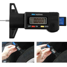 1 Pcs Digital Depth Gauge Caliper Tread LCD Tyre For Car Motorcycle Tire 0-25mm Measurer Tool
