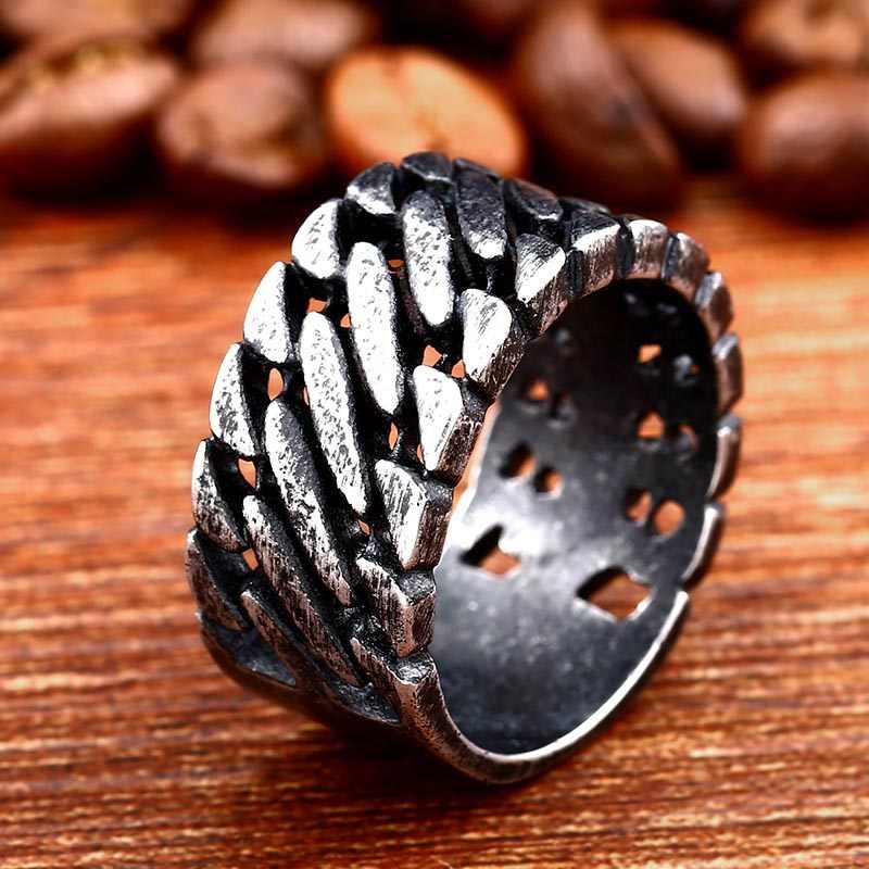 Beier 316L In acciaio inox 1314 di Torsione della catena anello di coppia, il che significa una vita per L'uomo Unico monili di prezzi all'ingrosso LR594