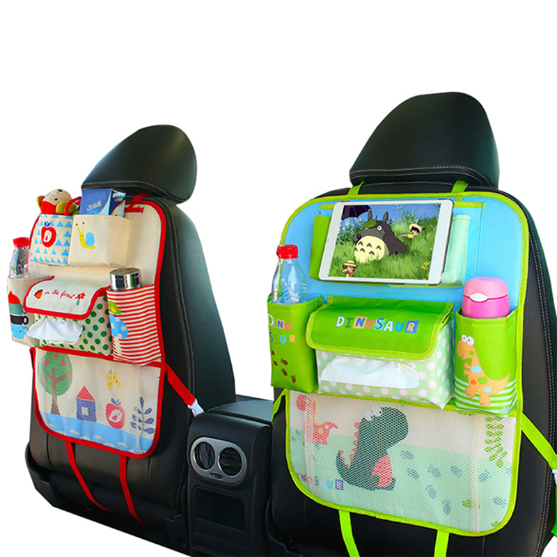 Cartoon Car Seat Back Storage Hanging Bag Travel Organizer Baby Products Varia Stowing Tidying Automobile Interior Accessories