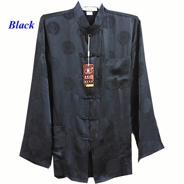 100% natural silk Chinese style male long-sleeve shirt,pure silk tang suit,100% silk Chinese style costume,pure silk cheongsam
