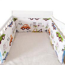Foldable 180*30cm Baby Bedding Bumper In the Crib For Newborn Cotton Linen One-piece Cot Bumper Baby Safety Bed Around Protector