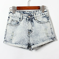TIC-TEC 2017 New Arrival Fashion Summer Women Shorts Loose Cotton Short snowflake Casual female Slim hole Denim Shorts P3063