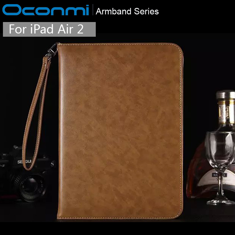 Luxury 360 full protection Armband shockproof Genuine Leather case for Apple iPad Air 2 wallet business official case cover люстра favourite 1302 6p