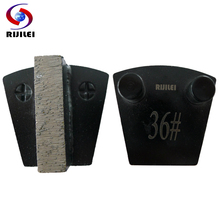 RIJILEI 40*10*10mm*1T Trapezoid Metal Diamond Grinding disc for concrete finishing marble Plates floor polishing P10