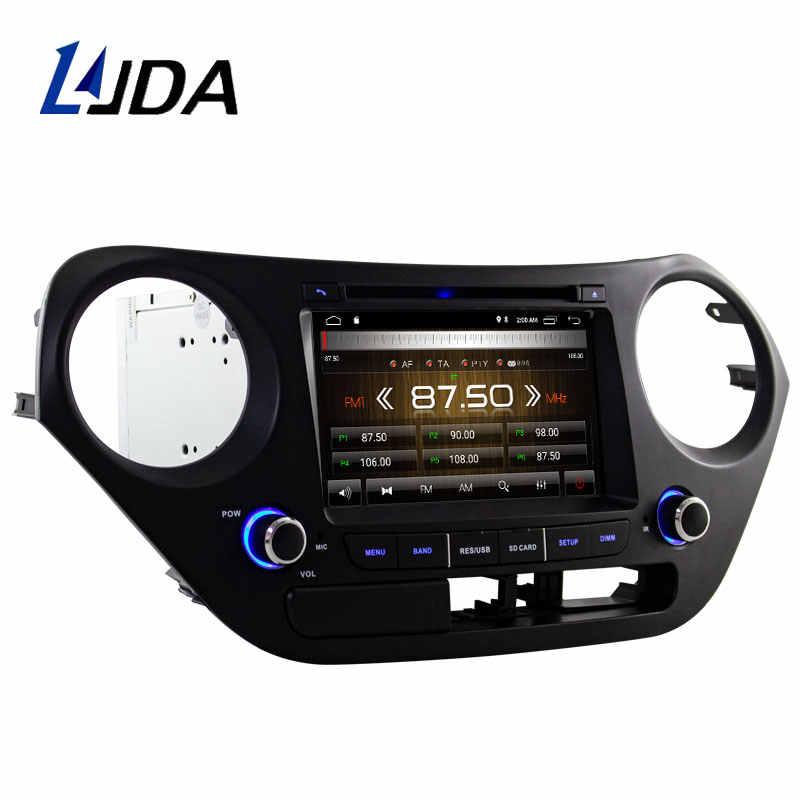 LJDA Android 9.1 Auto dvd-speler voor Hyundai I10 I-10 2013 + Autoradio autoradio gps navigatie stereo multimedia WIFI autoaudio sd