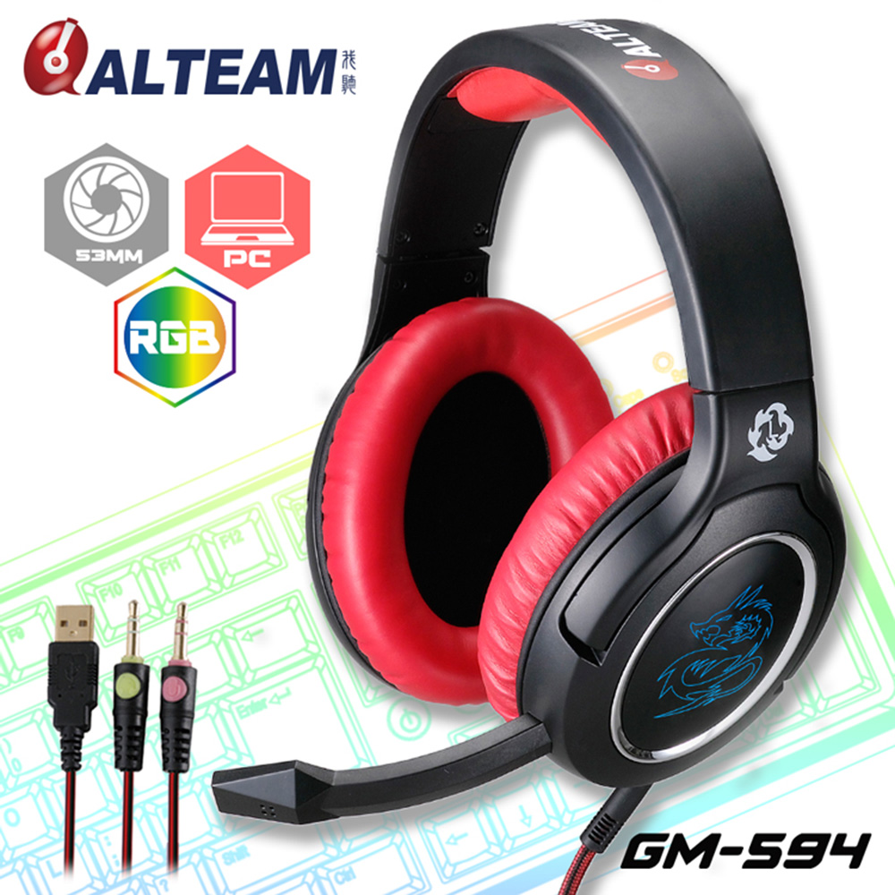 купить Big LED Light Deep Bass Stereo Sound Over Ear Wired Gaming Headset Headphone with Mic for Computer PC Game USB+3.5mm Audio Cable недорого