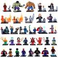 32 Шт./лот Marvel Super Heroes Мстители Бэтмен Железный Человек Дэдпул Рисунках Строительные Блоки Кирпичи Игрушки для Детей