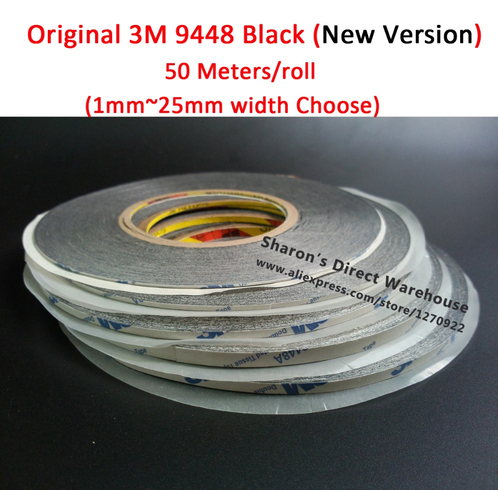 Original 3M 9448AB Black Double Sided Sticky Tape for Samsung HTC iphone ipad Phone Tablet font