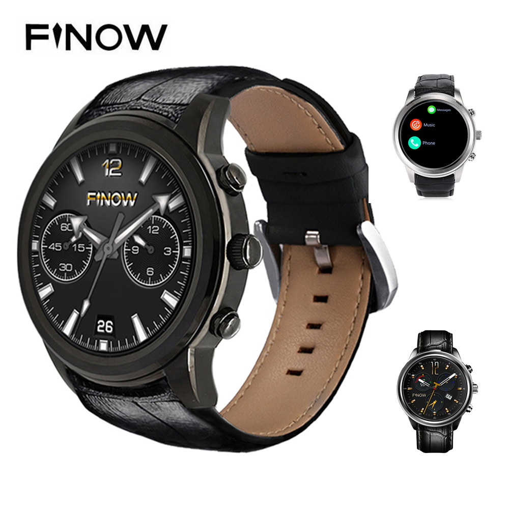 FINOW X5 AIR 3G Smartwatch Phone 1.39 inch Android 5.1 MTK6580 Quad Core 2GB RAM 16GB ROM GPS Bluetooth4.0 Pedometer Smart Watch no 1 d6 1 63 inch 3g smartwatch phone android 5 1 mtk6580 quad core 1 3ghz 1gb ram gps wifi bluetooth 4 0 heart rate monitoring