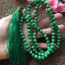 Burma jade beads bracelet 8mm 108 string necklace