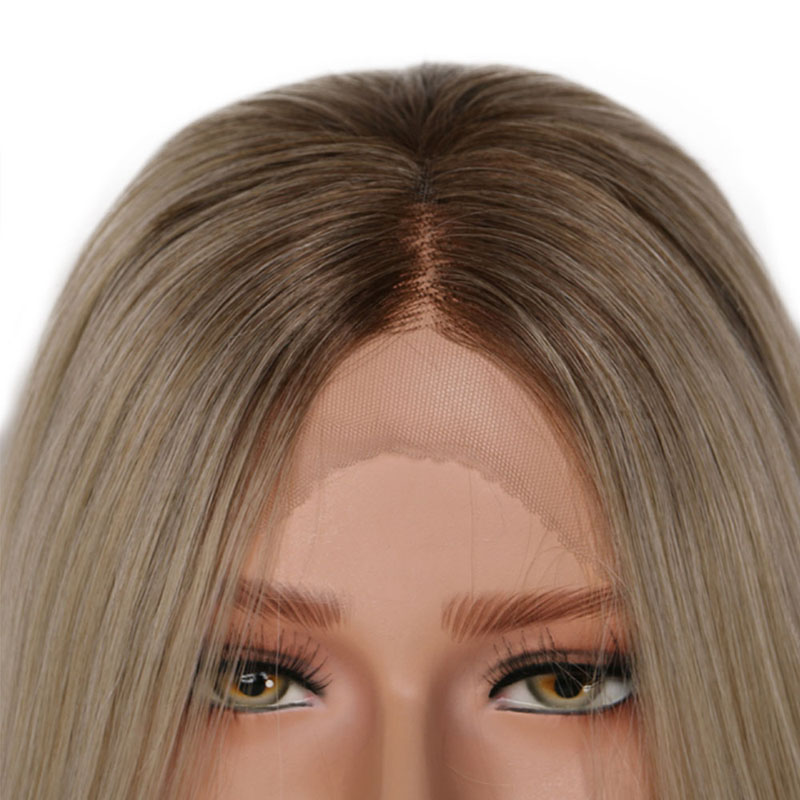 Image 4 - Charisma Glueless Wig Straight Hair Ombre Blonde Lace Front Wig Short Brown Roots Full Density Synthetic Wigs For Black Women-in Synthetic None-Lace  Wigs from Hair Extensions & Wigs
