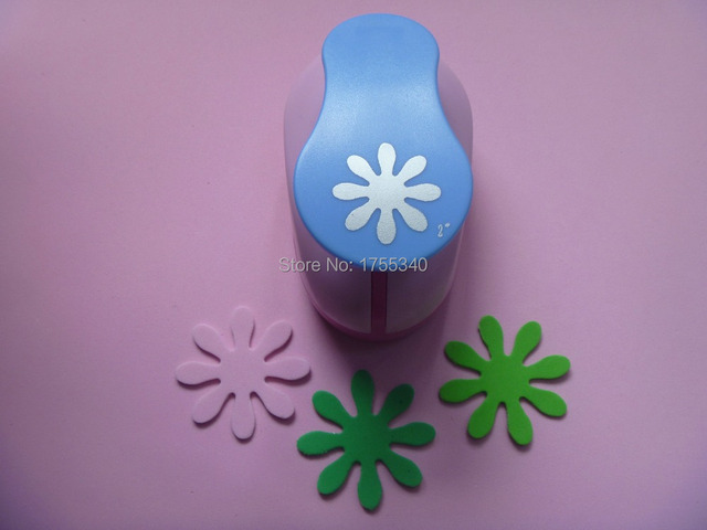 Free Shipping 1pc 50mm Daisy Craft Punch Eva Foam Punch Kids