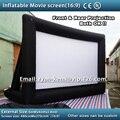 Frete grátis 6x4 m 16:9 inflável tela de cinema inflável tela de cinema de projeção traseira tela de cinema inflável