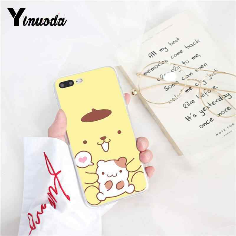 Yinuoda Sanrio pom pom purin fumetto bello Cassa Del Telefono della ragazza per il iPhone 8 7 6 6S Plus 5 5S SE XR X XS MAX 10 11 11pro 11promax